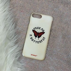 Off-White \\ iPhone Plus butterfly case